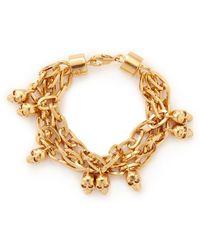 Alexander McQueen Skull Chain Bracelet - Lyst