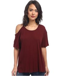 Free People Cotton Linen Rib After Party Tee - Lyst