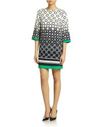 Eliza J Geo Print Shift Dress - Lyst