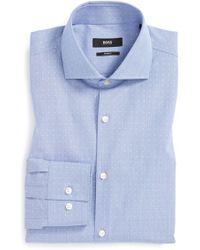Boss by Hugo Boss 'Jason' Slim Fit Dot Dress Shirt - Lyst