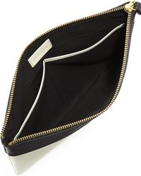 Hare + Hart Papa Leather Pouch Bag - Black