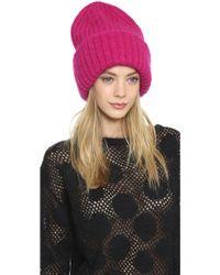 Tak.ori - Knit Hat - Fuxia - Lyst