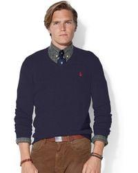 Polo Ralph Lauren Loryelle Merino Wool V-Neck Sweater - Lyst