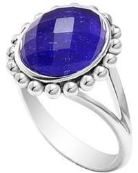 Lagos 'Maya' Small Doublet Ring - Lapis blue - Lyst