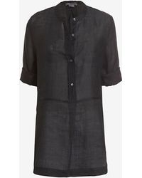 Vince Mid Placket Tunic - Lyst