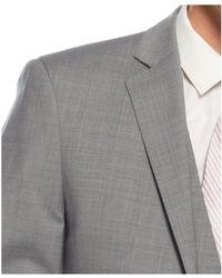 Calvin Klein Grey Plaid Vested Slim-Fit Suit gray - Lyst