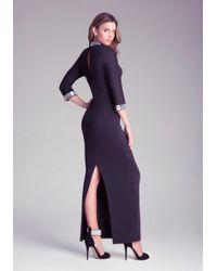 Bebe Dolman Sleeve Gown - Black