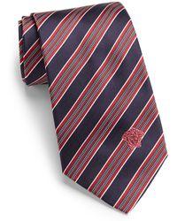 Versace Alternating Striped Silk Tie - Lyst
