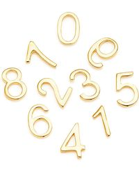 Loquet London - 18k Yellow Gold Number Charm - Lyst