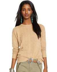 Polo Ralph Lauren Classic-Fit Cabled Cashmere - Lyst