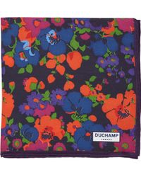 Duchamp Abstract Floral Pocket Square - Lyst