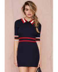 Nasty Gal Make Varsity Ribbed Dress - Lyst