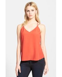 Trouvé Strappy High/Low Tank red - Lyst