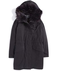 Army by Yves Salomon Rabbit Lined Parka blue - Lyst
