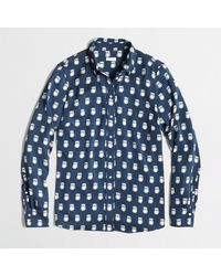 J.Crew Factory Printed Blouse - Lyst