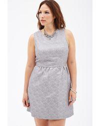 Forever 21 Metallic Geo-Patterned Dress - Lyst
