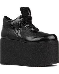 YRU - Qozmo High Platform Sneaker In Black Glitter - Lyst