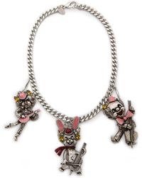 Erickson Beamon Loves Me Loves Me Not Necklace - Silver Multi - Lyst