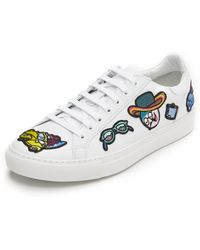 Mira Mikati All Over Patches Sneakers - White