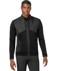Calvin Klein  Textured Blocked Zip Up Jacket - Lyst