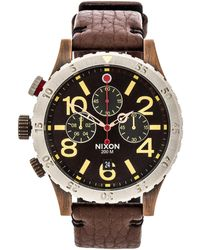 Nixon The 4820 Chrono Leather - Lyst