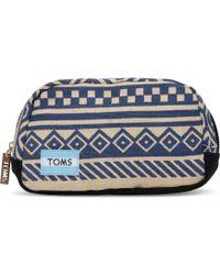 TOMS Indigo Ikat Traveler Cosmetic - Blue