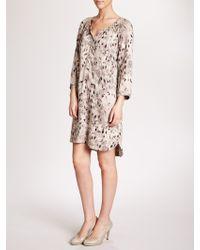 Sandwich - Leaves Tunic Dress - Lyst