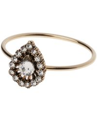 Orelia - Gold Toned Glass Crystal Moroccan Ring - Lyst