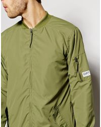 Clwr Parka With Bomber Collar Water Repellent - Green