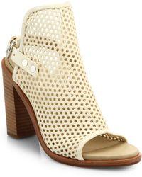 Rag & Bone Wyatt Perforated Leather Sandals white - Lyst