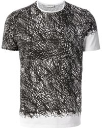 Balenciaga Noise Print Tshirt - Lyst