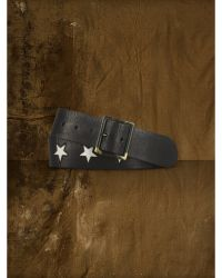 Ralph Lauren Star Leather Belt - Lyst