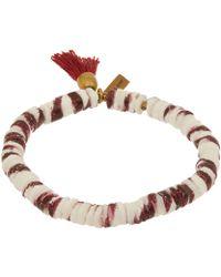 Isabel Marant - Small Red Fiji Beaded Tassel Bracelet - Lyst