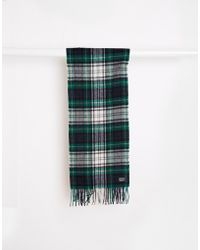 Minimum - Check Wool Scarf - Green - Lyst