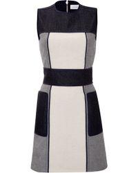 Victoria Beckham Patchwork Denim Dress - Lyst