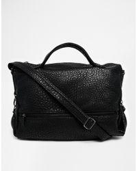 Asos Grainy Slouch Handheld Bag - Lyst