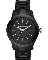 Karl Lagerfeld Unisex Slim Chain Black Watch - Lyst