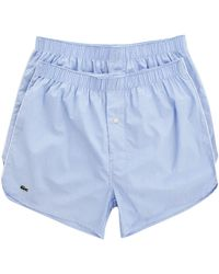 Lacoste 2-Pack Blue Chambray Underpants blue - Lyst