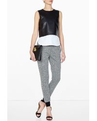 Theory Hodal Lightweight Leather Top - Lyst