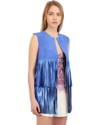 Blancha Fringed Suede Vest - Lyst