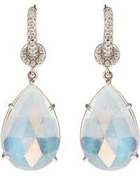 NSR Nina Runsdorf - Moonstone & White-gold Earrings - Lyst