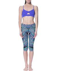 Mara Hoffman | purple Cross-back Sports Bra | Lyst