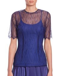 Nha Khanh - Marlee Abstract-lace Top - Lyst