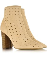 Chloé Perforated Star Sued Bootie - Lyst