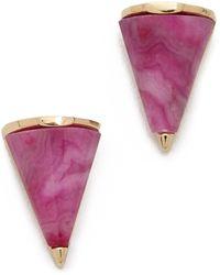 Sarah Magid - Mini Crazy Agate Cone Stud Earrings - Lyst