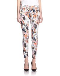 7 For All Mankind Printed Ankle Skinny Jeans - Lyst