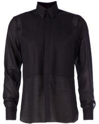 Lanvin Blue Sheer Shirt - Lyst