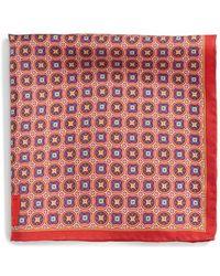 Robert Talbott - Medallion Silk Pocket Square - Lyst