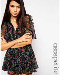 Asos Exclusive Playsuit in Floral Print - Lyst