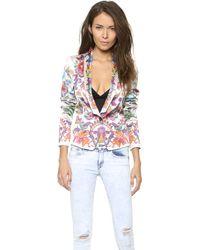 Just Cavalli Floral Blazer Off White - Lyst